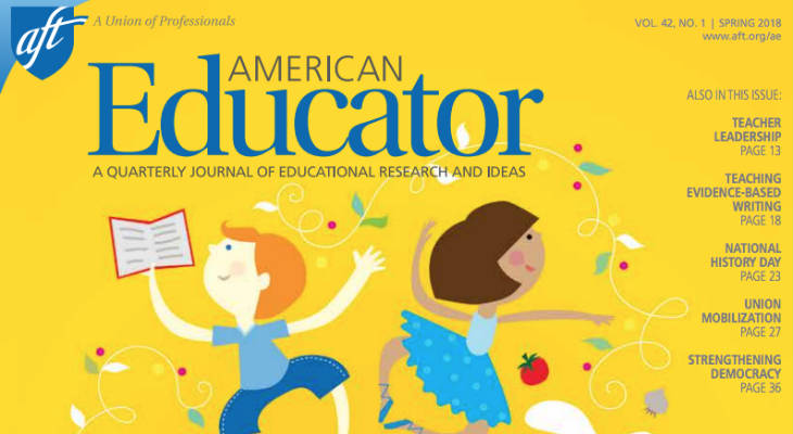 American Educator magazine screenshot