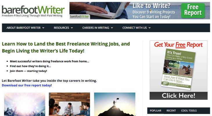 Barefoot Writer screenshot