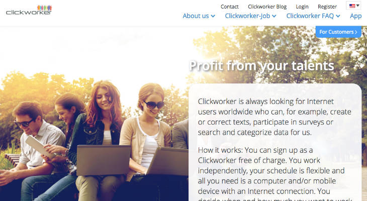 Clickworker screenshot