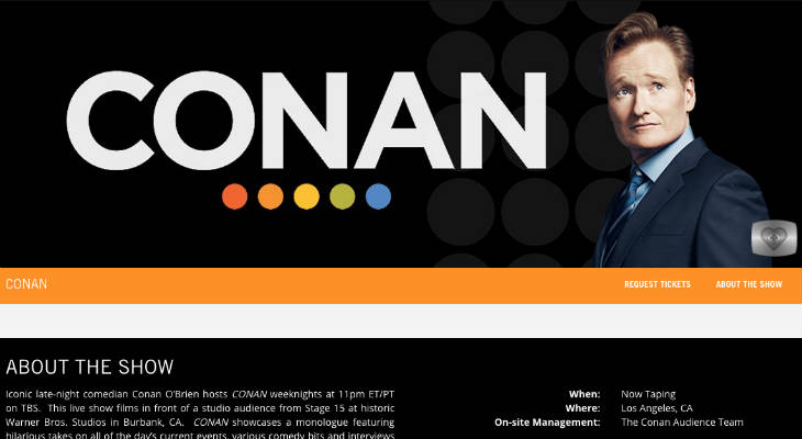 Conan Tickets screenshot