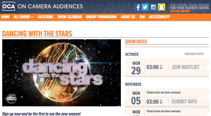 Dancing With The Stars Tickets screenshot