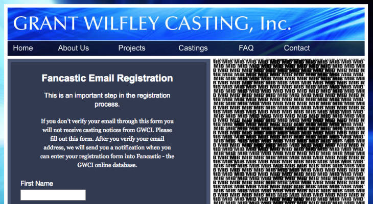 Grant Wilfley Casting screenshot