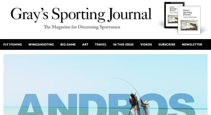 Gray's Sporting Journal screenshot