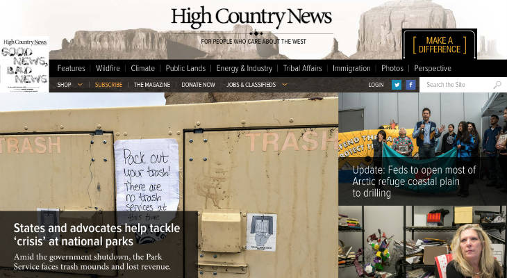High Country News screenshot