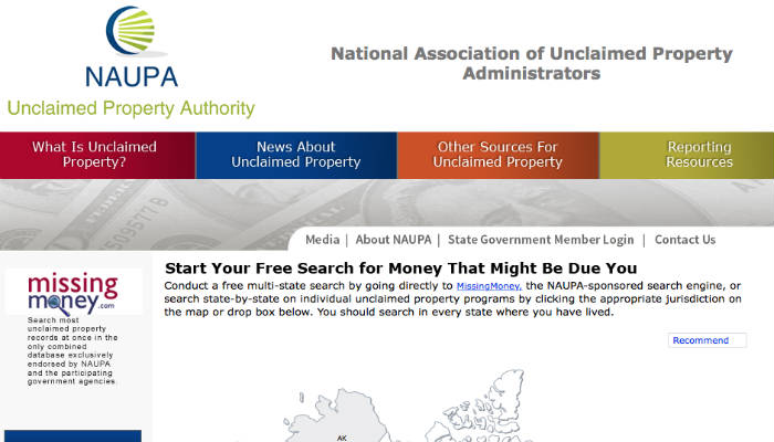 Naupa Unclaimed Money Free Stuff Giigs Us
