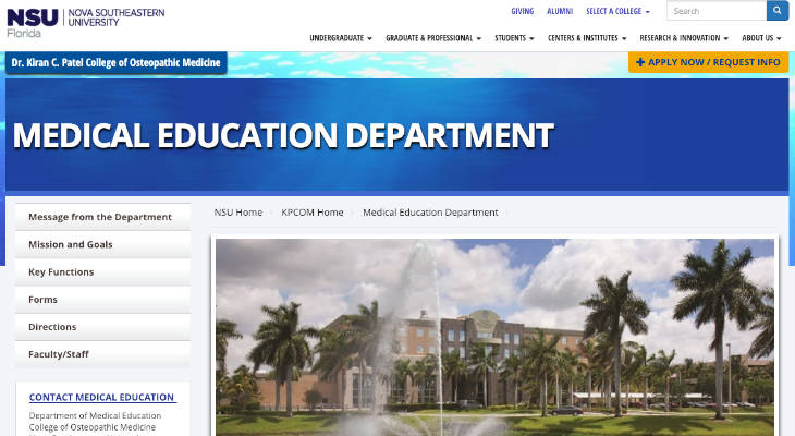 Nova Southeastern University College of Osteopathic Medicine Standardized Patient screenshot