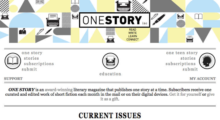 One Story Submissions screenshot