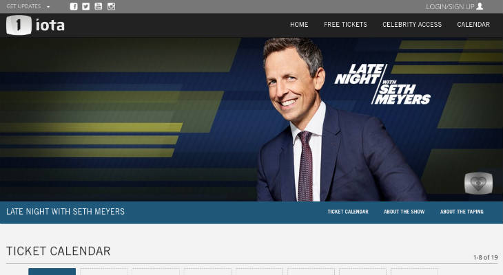 Seth Meyers Tickets screenshot