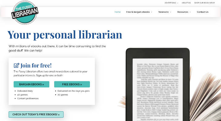 The Fussy Librarian screenshot