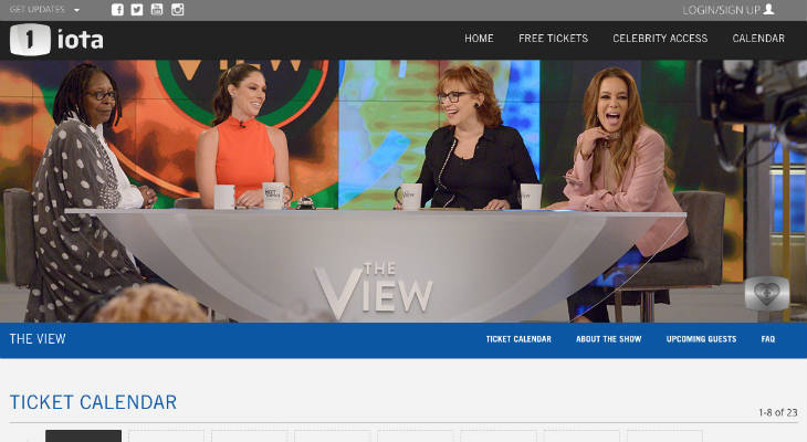 The View Tickets screenshot