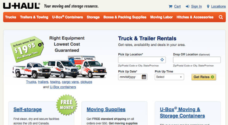 U-Haul Work From Home screenshot