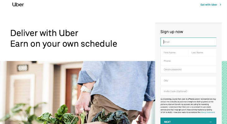 UBER EATS DELIVERY PARTNER < Delivery Jobs < Make Money < Giigs us