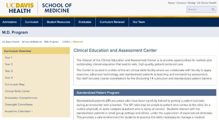 Uc Davis Academic Calendar.Uc Davis School Of Medicine Standardized Patient Standardized