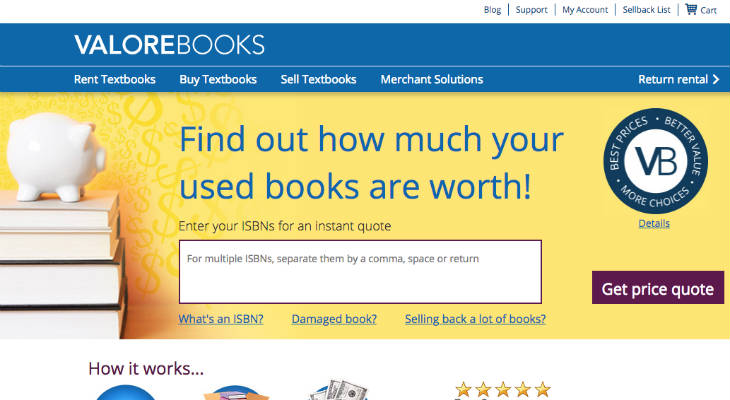 ValoreBooks screenshot