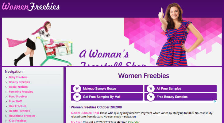 Women Freebies screenshot
